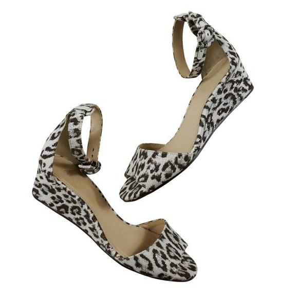 d3992c826a7 J. Crew Shoes - J.Crew Leila Wedge Sandals Size 7M Leopard
